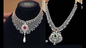 diamond sets design diamond necklace sets with weight ruby and diamond