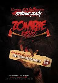 halloween zombie night flyer poster by giunina on deviantart