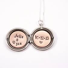 personalized locket necklace wedding date necklace personalized locket anniversary date