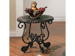 steve silver rosemont coffee table steve silver rosemont rm200e traditional round metal end table