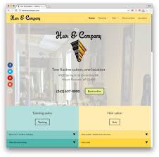web design example hair u0026 company tanning hair salon u2014 racine wi