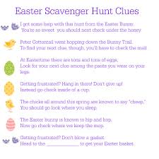 printable easter scavenger hunt clues between us parents