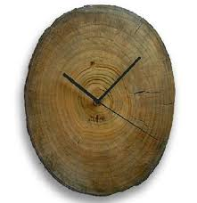 Home Decor Clocks Rustic Camphor Wood Log Wall Clock Minimalist Primitive Home