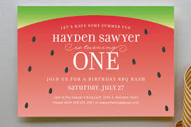 watermelon party invitation crush