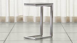 concrete top bar table parsons concrete top stainless steel base 20x12 c table reviews