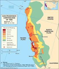 san francisco fault map san francisco earthquake of 1906 facts magnitude damage