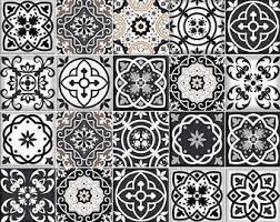 Bathroom Tile Black And White - tile decal etsy