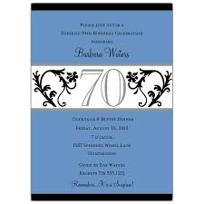 elegant 70th birthday invitations invitation ideas