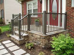 basement stair designs front porch mobile home step pictures steel