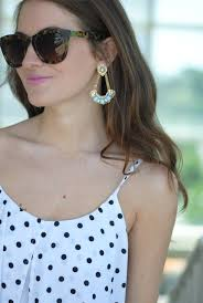 Marvellous J Crew Chandelier Earrings Southern Curls U0026 Pearls Polka Dotted