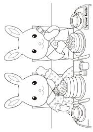 calico critters schoolwork coloring page color n relax