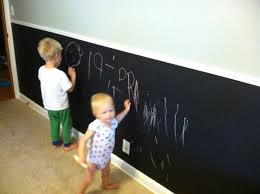 chalkboard wall in kids room our home kitchen tour chalkboard