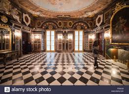 poland city of warsaw royal castle interior marble room stock
