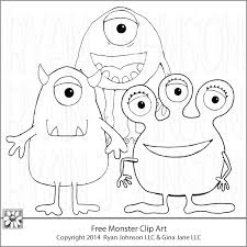 free monster coloring pages www yourfreeart net www