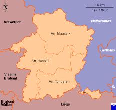 belgium in the map clickable map of limburg belgium