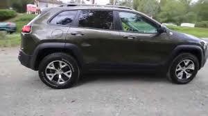 green jeep cherokee 2014 jeep cherokee trailhawk green ew216033 kirland