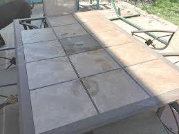 Tiled Patio Table Home Design Fabulous Tiled Garden Tables Patio Table Before 31