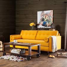 Gold Sofa Living Room Furniture Of America Kalinda Modern Mid Century Gold Sofa