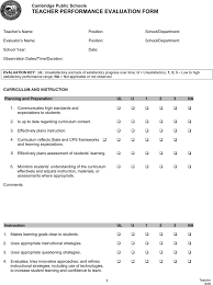 teacher evaluation template free template download customize and