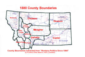 Montana Counties Map by Census U003e