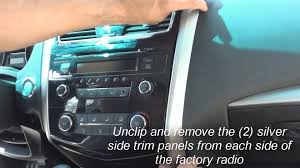nissan altima coupe trims remove factory stereo altima 2013 2014 youtube