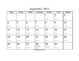 hebraic calendar 2011 calendar with equivalents and holidays