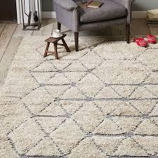 rugs chevron wool shag rug