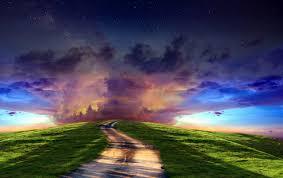 magical night wallpapers magical horizon road hill gras wallpapers magical horizon road