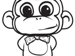 free cartoon monkey coloring pages free coloring today