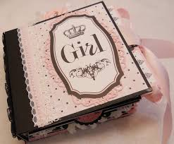 baby girl photo album scrapbookfashionista designs by rina teresa collins bebe chic