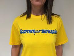 t shirt correreperunrespiro 2017 u2022 colore giallo u2022 rachele