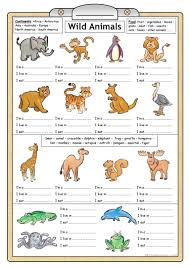 2022 free esl animals worksheets