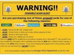 prepaid card for prepaid card scam hits oswego cops oswego il patch