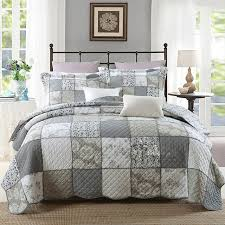 Quilted Bed Frame Chausub Korea Patchwork Quilt Set 3pc Washed Cotton Quilts Bed