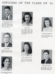 le bureau fran is berl nd the senior class of robert e high 1941 jacksonville fl