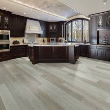 grey kitchen cabinets with brown wood floors 75 beautiful vinyl floor kitchen with wood cabinets