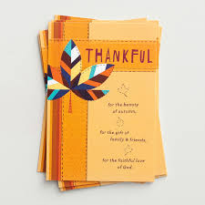 thanksgiving thankful 6 note cards dayspring