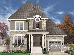 house plans for narrow lots with garage house plan w3446 detail from drummondhouseplans