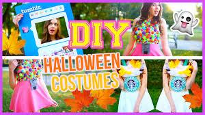 Diy Halloween Coustumes by Diy Halloween Costumes Starbucks U0026 More Youtube