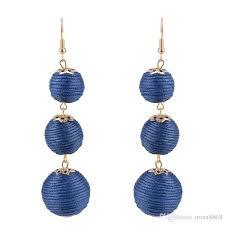 2017 fashion accessories thread dangle earrings thread dangle