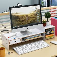 Desk Top Accessories Desktop Keyboard Storage Racks Office Multi Shelf Desk Top Tidy