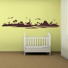 dinosaur silhouette landscape dinosaur wall stickers childrens dinosaur silhouette landscape dinosaur wall stickers childrens bedroom art decal