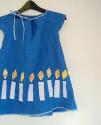 hanukkah clothing ananemone hanukkah dress blue dress with white candles
