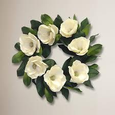 24 silk magnolia wreath reviews joss