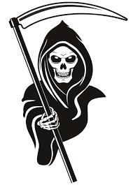 drawn grim reaper simple pencil and in color drawn grim reaper