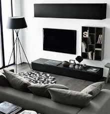 idee deco salon canape noir deco salon noir et blanc idee moderne on decoration d interieur 25