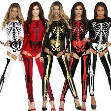 Skeleton Woman Halloween Costume Buy Wholesale Women Skeleton Costume China Women