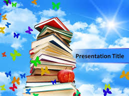 books powerpoint templates background of blue color with nice