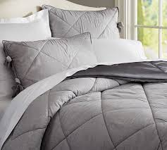 Duvet And Comforter Linen Silk Comforter U0026 Sham Pottery Barn