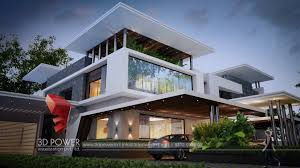 bungalow design luxurious 3d modern bungalow rendering elevation design by 3d